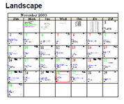 Landscape astrological calendar orientation