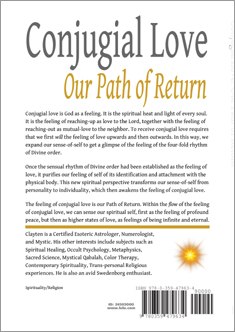 Conjugial Love, by Clayten Tylor- Back Cover Book