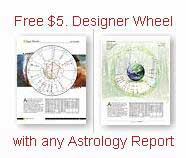 Free Designer Wheel with any Astrology Report