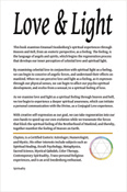 Love & Light, by Clayten Tylor- Back Cover Book